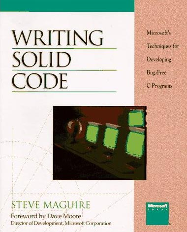 Buch: Microsoft @ Developing Bug-free C Programs