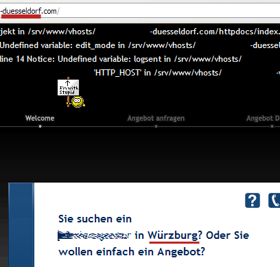 Screenshot einer Grey Hat SEO Microsite